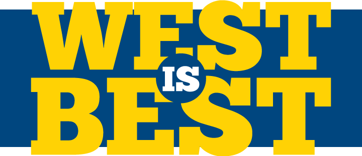 graphic that says west is best