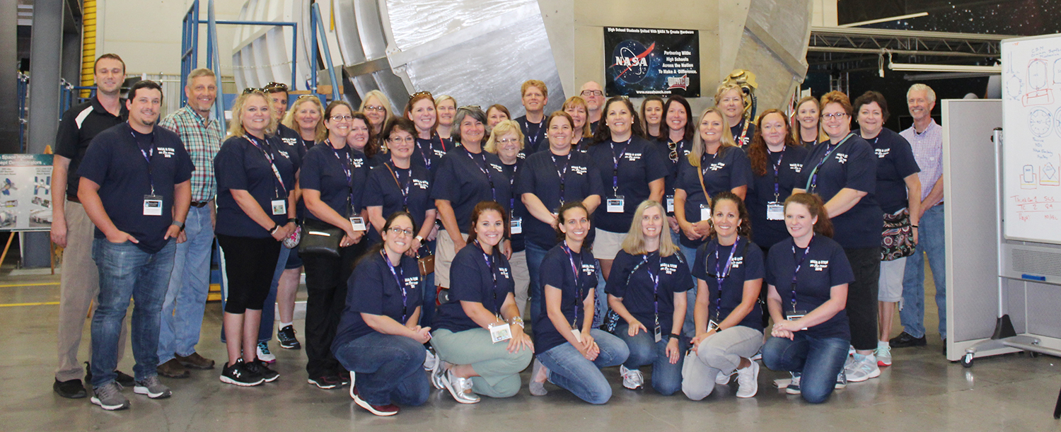 group of people at nasa