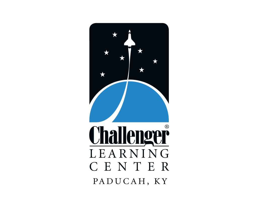 challenger logo depicting a space shuttle rocketing to space
