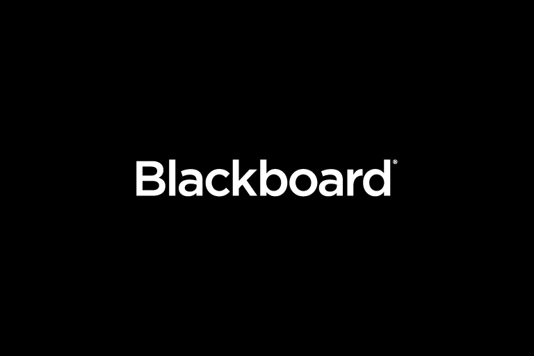 The blackboard logo placed onto a black background