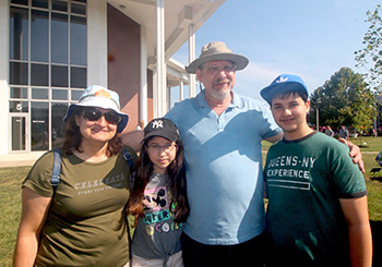 The Zlotogorski family traveled 22 hours from Jerusalem to attend WKCTC's Night at Noon event. (L to R – Krassi, Maya, Abraham and Daniel)